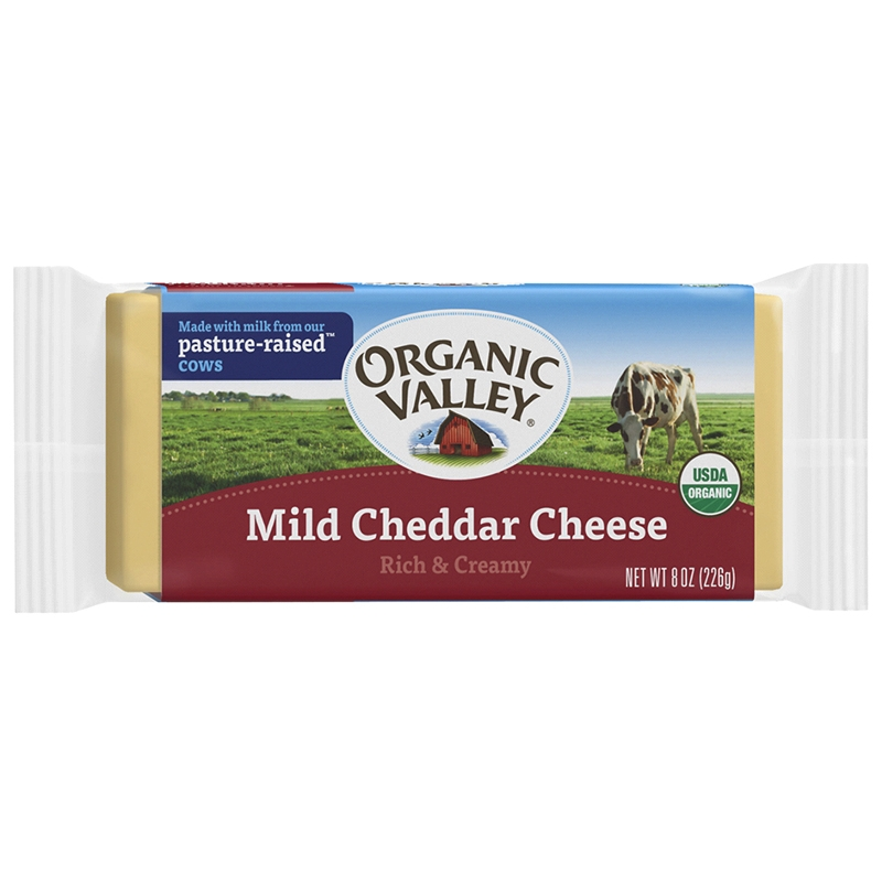 Organic Pasteurized Mild Cheddar Cheese